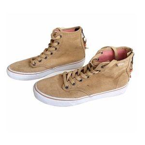 VANS•Tan SK8 Hi Zip closure women's shoe size 6